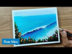 Ocean Waves Acrylic Painting | How to Paint Ocean Waves #2 | Easy & Simple - YouTube Ocean Waves, Future Videos, Acrylic Canvas, Youtube, Painting, Simple, Easy, Painting Art, Paintings