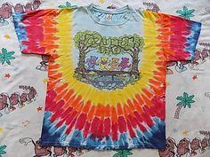Vintage 90's Grateful Dead Bears tie dye T shirt size