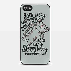 Big Bang Theory Meoww Warm Kitty, Soft Kitty for iPhone 5/ 5s Black Case