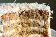 Toasted Coconut Cake with Coconut Buttercream