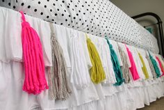 Add tassels to your bedskirt. | 37 Awesome Ways To Create The Dorm Room Of Your Dreams