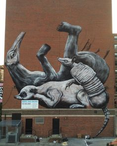 A Massive New Mural by Street Artist ROA for Monument Art in Harlem // NYC