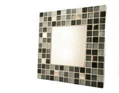 Espejo 30x30 Mosaico Cristal Gris por SoniaHomeFashion en Etsy, €60.00