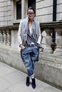 35 Cute Street Style Boyfriend Jeans For Women - Fashion Outfit Ideas Denim Fashion, Look Fashion, Winter Fashion, Fashion Outfits, Womens Fashion, Street Fashion, Fashion Tag, Fashion Beauty, St Style