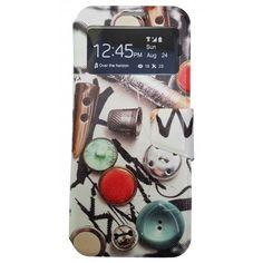 Funda Con Tapa Tipo Libro Para Samsung Galaxy S8 Plus Material De Costura