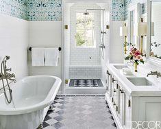 Bold design ideas for small bathrooms - small bathroom decor Diy Bathroom Remodel, Diy Bathroom Decor, Bathroom Design Small, Bathroom Interior Design, Modern Bathroom, Master Bathroom, Bathroom Ideas, Bathroom Designs, Master Baths