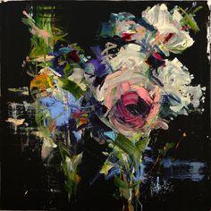 Carmelo Blandino - Bouquet of flowers 3, acrylic on canvas
