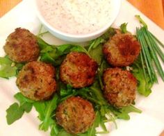 Easy to make greek-style meatballs with a tasty tzatziki dipping sauce. {paleo, gluten-free}