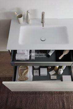 Blu Bathworks F51V1-0600 51 Collection Full Floating Wall-Mount Vanity – MasterBuilder Mercantile Inc.