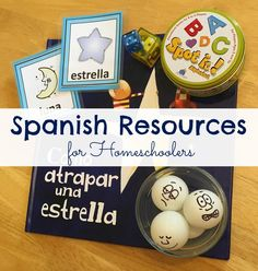 Spanish resources for homeschoolers. Fun learning resources to help your child learn Spanish. I love the game ideas! ParadisePraises.com