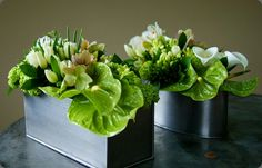Green table decoration