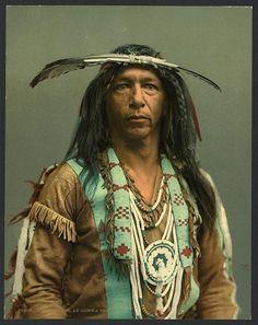 Arrowmaker, an Ojibwa brave, USA, circa 1890  cosmic-dust