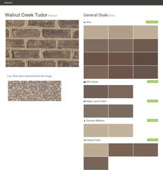 Click the gray Visit button to see the matching paint names. Brick Masonry, Brick And Mortar, Brick And Stone, Sherwin Williams Valspar, Ralph Lauren Paint, Grey Siding, Ppg Paint, Brown Brick, Valspar Paint