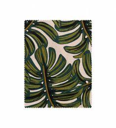 Cotton + Steel - Monstera (natural) - Screen Printed Cotton/linen Blend