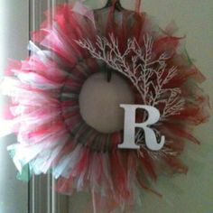 Another tulle wreath.