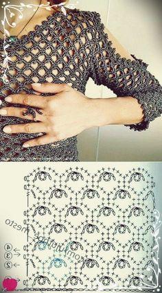 Crochet Afgans – Blusa Verde Limon Crochet – Love Crochet – I Knapik - Crochet Pull Crochet, Gilet Crochet, Crochet Afgans, Crochet Blouse, Love Crochet, Knit Crochet, Easy Crochet, Crochet Stitches Patterns, Knitting Stitches