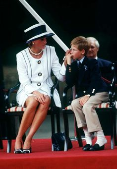 Princess Diana And Prince Harry Attend Vj Day Commemorative Events on August 19, 1995.