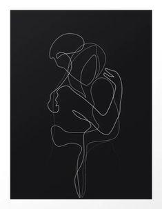 Lovers Dark Version by UrbanWallArts couple love hug one-line drawing 560276009893817647 Minimal Drawings, Dark Drawings, Couple Drawings, Hugging Drawing, Line Drawing, Smoke Drawing, Drawing Art, Drawing Sketches, Drawing Ideas