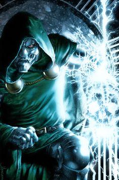 Doctor Doom by Jay Anacleto & Moose Baumann Comic Book Villains, Marvel Villains, Comic Book Characters, Comic Book Heroes, Comic Books Art, Arte Dc Comics, Marvel Comics Art, Fun Comics, Anime Comics