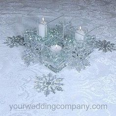 The wedding centerpieces may not look such a huge problem when you find the huge picture. To sum this up, there are lots of winter wonderland wedding ... Winter Wonderland Centerpieces, Winter Wedding Centerpieces, Winter Wonderland Theme, Winter Theme, Wedding Table, Wedding Ideas, Trendy Wedding, Wedding Designs, Wedding Colors