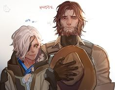 Overwatch Ana and Mccree. https://twitter.com/rod4817a/media