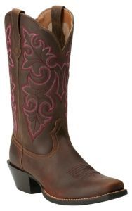 Ariat Women's Powder Brown Round Up Punchy Square Toe Western Boot | Cavender's