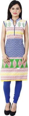Sukuma Casual, Formal, Festive Sleeveless Printed Women's Kurti - Buy Blue Sukuma Casual, Formal, Festive Sleeveless Printed Women's Kurti Online at Best Prices in India | Flipkart.com