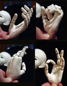 The New Clay News: Sculpting a ball-jointed hand - AND tutorials for air-dry/self-hardening clays