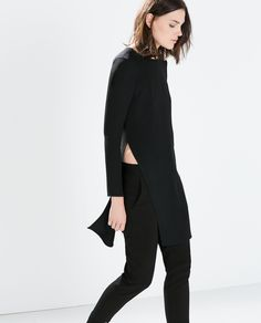 Image 2 of STUDIO TUNIC WITH SIDE SLIT from Zara
