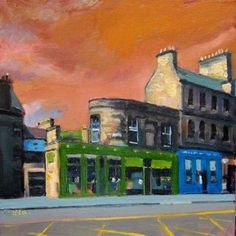 Chambers Street, Edinburgh, 5.Townscapes, Harry Bell, SAA Professional Members' Galleries