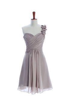 Gorgeous Knee-length A-line bridesmaid dress $172.00...would be perfect in light blue!