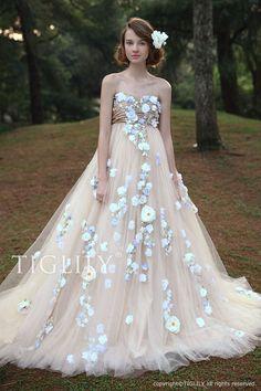 【アビー Abbie】ウェディングドレス_カラードレス(w2030)