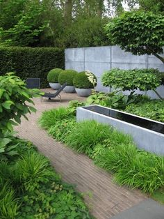 Laurent Perrier garden at the Chelsea Flower Show 2008 (designer Tom Stuart-Smi. Laurent Perrier Garten bei der Chelsea Flower Show 2008 .