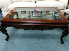 Coffee Table Mahogany Coffee Table With Carved Legs Price