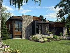 Elevation of Contemporary   House Plan 50345