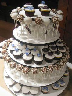 Wedding cake pop/ Cupcake tower by The Cake Baketress
