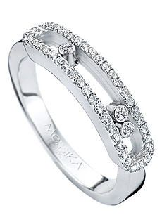 MESSIKA Baby Move 18ct white-gold diamond-set ring