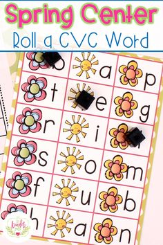 Spring Centers for Kindergarten! Includes this roll a CVC Word game and MORE!