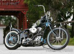 Billy Lane's King of Sleaze. Knucklehead Motorcycle, Harley Davidson Knucklehead, Harley Davidson Motorcycles, Custom Bobber, Custom Choppers, Custom Motorcycles, Powered Bicycle, Bike Builder, Drag Bike