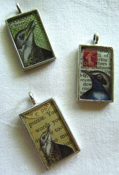 Kuvahaun tulos haulle resin jewelry with collage pictures