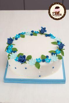 #flowers #cake #blue #torta #pdz #fiori #blu #cake_design