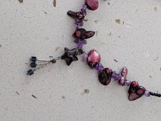Combination of purple seashell and tiny crystal. Natural materials for those who love nature. Star Pendant, Natural Materials, Crystal Necklace, Necklace Lengths, Sea Shells, Belly Button Rings, My Etsy Shop, Pendants, Crystals