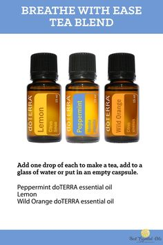 doTERRA Breathe With Ease – Tea Blend Recipe
