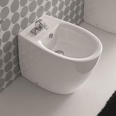 Hidra Ceramica | Standbidet mit Hahnloch | Serie Loft | Design: Carlo Urbinati