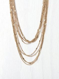 Ten Strand Gold Long Layered Chain Necklace LN62 by AmyOHandmade, $27.00