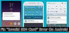 """12 #Methods To #Fix """"#Invalid #SIM Card"""" #Error on #Android. 1: Restart Android. 2: Re-insert #SIMCard. 3: Check SIM Card Tray. 7: Clear #Cache Of Your Android #Device... 11: #FactoryReset Your Android Device. 12: #Contact Your Device Carrier. Software Bug, Settings App, Play Game Online, Airplane Mode, Data Recovery, My Sims, Tray, Android, Check"""