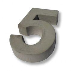 Hausnummer Beton 5