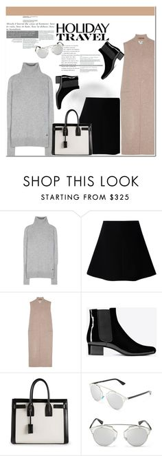 """""""No 258:Holiday Travel"""" by lovepastel ❤ liked on Polyvore featuring Loro Piana, RED Valentino, Acne Studios, Yves Saint Laurent, Christian Dior and travelinstyle"""