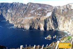 Slieve League Cliffs #Donegal #WildAtlanticWay #Ireland #walking #cycling http://irelandways.com/ways/the-wild-atlantic-way/bluestack-sli-cholmcille-way