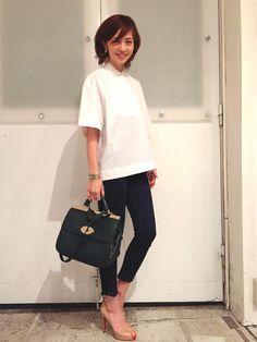 FLORENTのシャツ・ブラウスを使った安田美沙子さんのコーディネートです。│春キブン!!